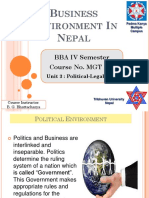 Political Legal Environment - Unit 3