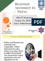 Political Legal Environment - Unit 3