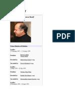Nawaz Sharif's Wikipedia