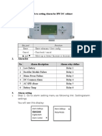 Alarm Configuration for HW DC Cabinet