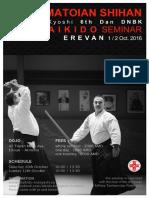 10/2016 Aikido Seminar Erevan