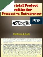 Industrial Project Profiles for Prospective Entrepreneur
