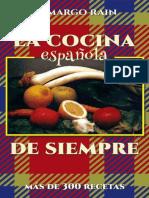 La Cocina Española de Siempre - Mas de 300 Recetas - Camargo Rain