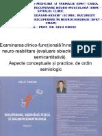 Curs - Examinarea Clinico-funcțională În Neuro-recuperare