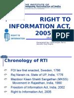 Rti Act, 2005 - c.r. Paul & Nandini Raj Gupta