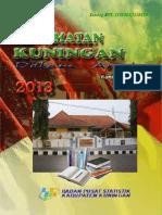 Kecamatan Kuningan Dalam Angka 2013
