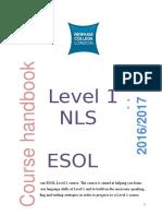 handbook l1 16 17