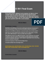 ECO 561 Final Exam Answer | Assignment E Help