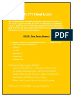 FIN 571 Final Exam - FIN 571 Final Exam Answers | Assignment E Help