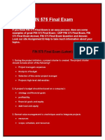 FIN 575 Final Exam - FIN 575 Final Exam answers @Assignment E Help