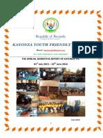Kyfc Narrative Report of July 2015 - June 2016