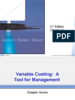 07 Variable Costing  = A Tool for Management