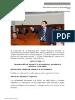 Congresista Elías Rodríguez Zavleta presenta Proyecto de Ley Que Elimina La Inmunidad Parlamentaria
