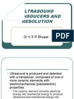 Ultrasound Transducers and Resolution