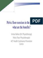 Pelvic Floor Exercises in the Elderly Irmina Nahon1