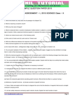 Class 10 Cbse Sample Paper Science for Sa 1 Sep2015 3