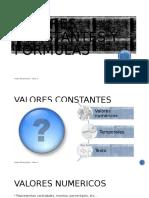 VALORES CONSTANTES