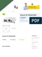 Hitachi Cp Wx4022wn