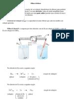 Química Eletroquímica Pilhas elétricas