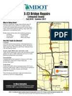 MDOT Brochure on U.S. 23 bridge repairs in Livingston County