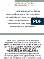 Evolución de Los Servicios Para Las Personas Con Discapacidad en La Argentina