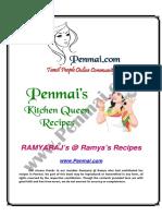 Ramyaraj Recipes PDF - Penmai's Kitchen Queen