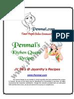Jayanthy Recipes PDF - Penmai's Kitchen Queen