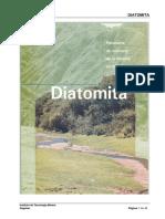 DIATOMITA Especificacines Técnicas Para Uso
