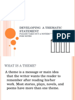 thematic statements ppt