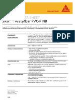 E 4007 Sika Tricosal Waterbar PVC-P NB