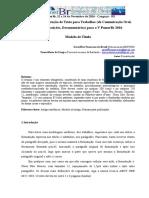 Modelo de Formatação para Trabalhos - V PomerBr