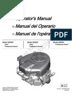 Engine Operators Manual