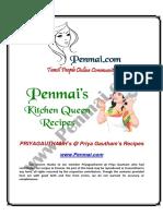 PriyagauthamH Recipes PDF - Penmai's Kitchen Queen