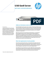 HP ProLiantDL160Gen9 DataSheet