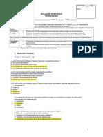 Evaluación diagnóstica 1° medio. Química. 2015. Respuestas.