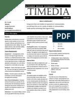 multimedia syllabus 16-17