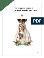 Santo Rosario y Novenario de Nuestra Señora de Fatima
