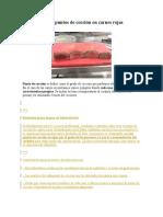 Laboratorio de Puntos de Cocción en Carnes Rojas