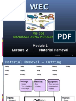 Production Engineering Module 1