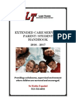 16-17 Extended Care Parent Handbook