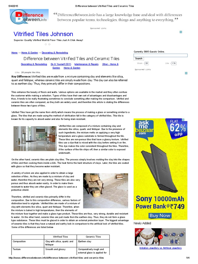 Difference between ceramic and vitrified floor tiles choice image what is the difference between vitrified tiles and ceramic tiles difference between vitrified tiles and ceramic dailygadgetfo Gallery