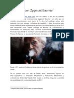 Una Tarde Con Zygmunt Bauman INTRODUCCION