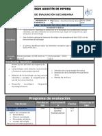 Plan y Programa de Evaluacion 2o 16 17