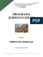 Módulo Direito Do Trabalho - Programa Juristas Leigos - 2003
