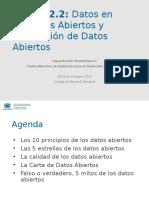 Charla 2.2 - Datos en Formatos Abiertos y Publicación de Datos Abiertos - UNDESA_DPADM
