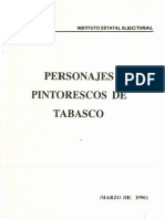 Personajes Pintorescos de Tabasco INSTITUTO ESTATL ELECTORAL DE TABASCO - 1996