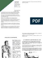 Resumen de la Independencia Del Peru