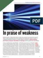 Physics World - Marzo 2013 - Frontiere Quantistiche. Misurazione Fine