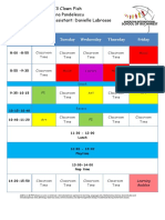 timetable for parents 2016-2017