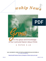 August 24, 2016 The Fellowship News